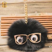 Пушистый и милый маленький монстр Raccoon Fur Pompom брелок для сумка шарм