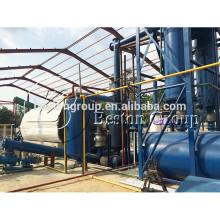 Neumático sin contaminación refinación de 20 toneladas planta de pirólisis