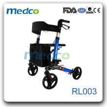 Aluminum frame disability rollator shopping cart RL003