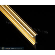 Золотой матовый алюминиевый профиль карниза для штор