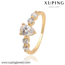 13836-Xuping Classic Design Crystal Waterdrop Bague de mariage