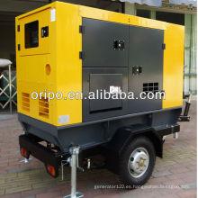 Diesel del generador del remolque de 30kva con la cabeza del generador del alternador de 1800 rpm
