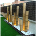 Night Yard Landscape Decorativo LED Iluminación de Bambú