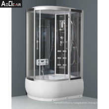 Aokeliya Big Cabin Shower Cubicles with Double Door and High Tray