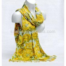 Fashion floral print viscose ladies scarf