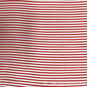 Großhandel gewebte Nadelstreifen 100% Rayon Girls Dress Fabric