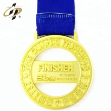 Promotional sports marathon finisher custom gold sliver bronze medals