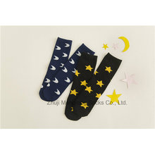 Moon and Star Designs Pantyhose Legging de la muchacha del apretón del algodón de la muchacha popular