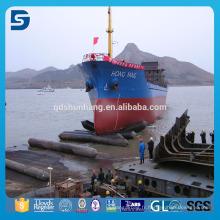 Airbag marin en caoutchouc de récupération gonflable pour le lancement de bateau