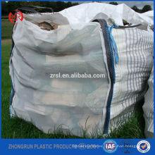 Bolsas a granel de pellets de madera, pellets de madera grandes super sacos de 1 tonelada