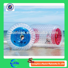 Beach sport game inflatable water running ball, hot sell orb wheel custom water roller for sale