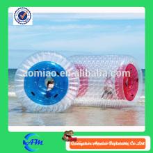 Praia esporte jogo água inflável correndo bola, venda quente roda orb rolo de água personalizado à venda