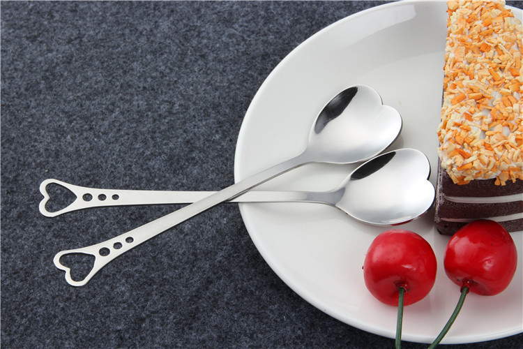 Custom Sliverware Heart Spoon