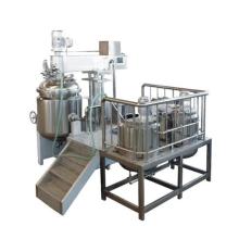 Emulsão de alto cisalhamento com homogeneizador e misturador