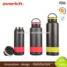 Bouteille d'eau en acier inoxydable en acier inoxydable 18 oz / bouteilles d'eau en acier inoxydable avec dessus en plastique