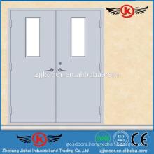 JK-F9007 double leaf fire rated door fire proof glass door