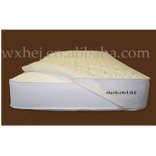 PU/TPU Coated Elasticized Skirt Quilted Crib Mattress Pad /Protector