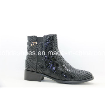 16fw New Design Flat Women Ankle Leather Boots