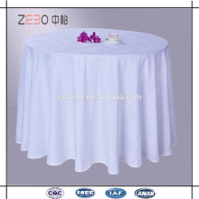Hot Selling Polyester White Jacquard Fabric Cheap Dining Table Clothes