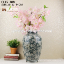 Chinese Ink Painting High Quality Ceramic Porcelain Decoration Flower Tall Vase for Home Decor Interior