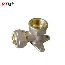 B 4 8 bronze válvula de retenção latão wallplate cotovelo de bronze tee masculino cotovelo