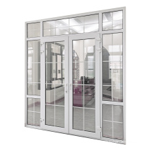 WANJIA Hot Selling Cheap  casement PVC door With Grill Design