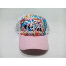 Chapeau de baseball en treuil respirant extérieur à l'été chapeau de fleur chapeau de soleil