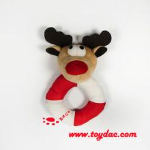 Plush Christmas Deer Ring Rattle