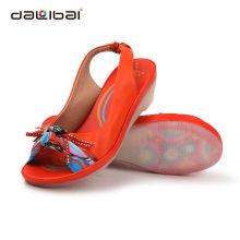 Preço de fábrica de couro genuíno últimas moda linda sandálias sapatos das senhoras