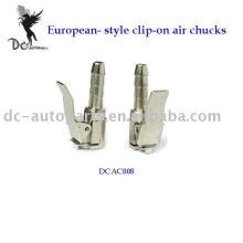 European-style clip-on air chucks;