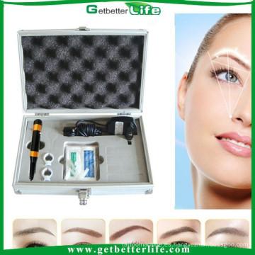 getbetterlife 2015 gratis envío permanente maquillaje máquina kit de tatuaje ceja Pro bordado kit, cejas