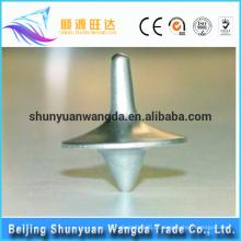 Bottom preço melhor vendendo design bonito peças de brinquedo de fundição de metal spinning top