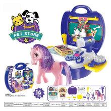 Boutique Spielhaus Plastikspielzeug für Tierhaus-Pferd