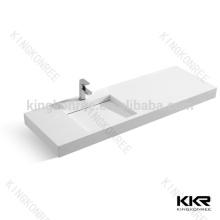 bathroom sanitary ware sinks , rectangular artificial stone basin