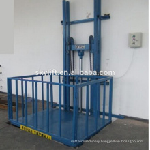 Hydraulic Guide Rail Goods Lift Pit Cargo Lift for Warehouse