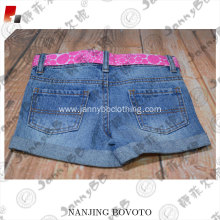Machine washable belt design dark blue jeans