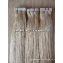 Qingdao manufacturer,5A remy virgin Brazilian human hair stick tape hair extension
