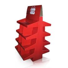 Multi-Faced Cardboard Display Stand, Paper Display Shelf