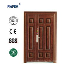 Four Panel Mother Son Steel Door (RA-S151)
