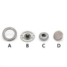 Bouton pression double face en métal creux cercle en gros