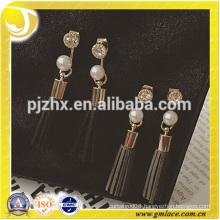 2016 Alibaba China Supplier Wedding Bridal Sexy Leather Mini Earrings