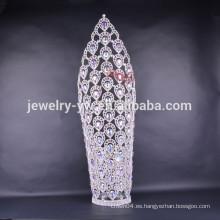 2015 nuevas tiaras grandes de la corona del desfile del diseño grande para las mujeres