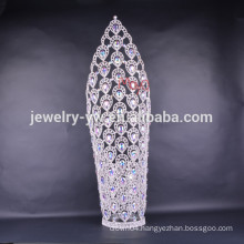 2015 new design large tall pageant crown tiaras for women