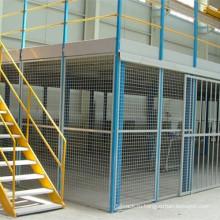 Двухэтажные стеллажи с мезонинной платформой