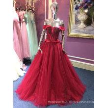 Una línea / vestido de noche princesa para la boda con rebordear corpiño