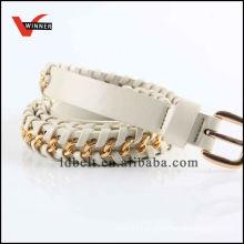 2015 Fashion White Metal Wholesale Braided Belts