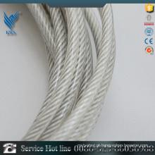 6 milímetros de plástico revestido fio de aço inoxidável fabricado na China