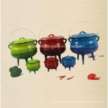 #2, #3, #4, #5 Enamel Cast Iron Potjie Pot with Three Leg/Cauldron
