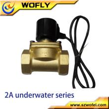 China fábrica produzir 2 vias 1/4 '' ~ 2 '' latão / ss304 / ss316 válvula solenóide subaquática ac 220v / dc 24v