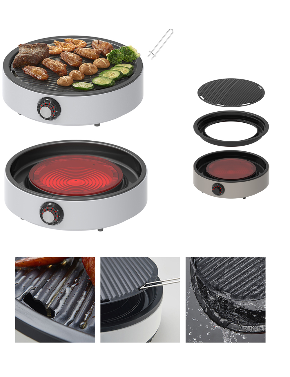 Multi Round Ceramic Cooker and BBQ